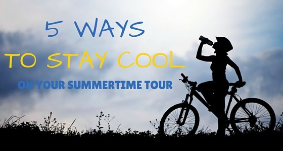 ways to stay cool riding bike