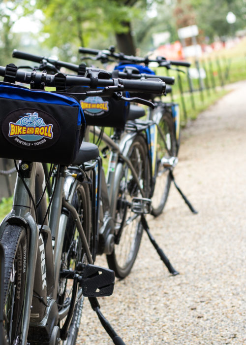 bikes along chain